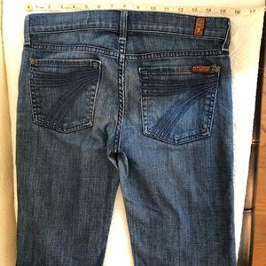7 For All Mankind Dojo Cropped Jean Women Size 27